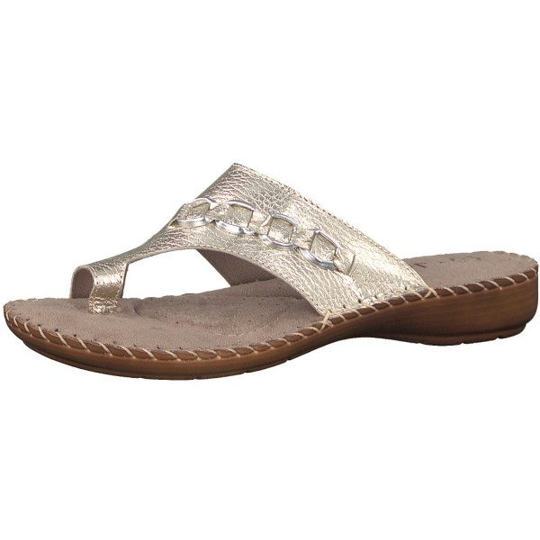 Jana Damen Zehentrenner 8-8-27108-20/957 gold metallic Damen
